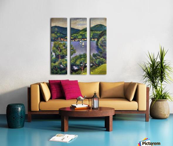 Tegern Sea landscape by August Macke Split Canvas print