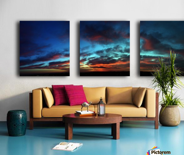 Dawn in Cairo Split Canvas print