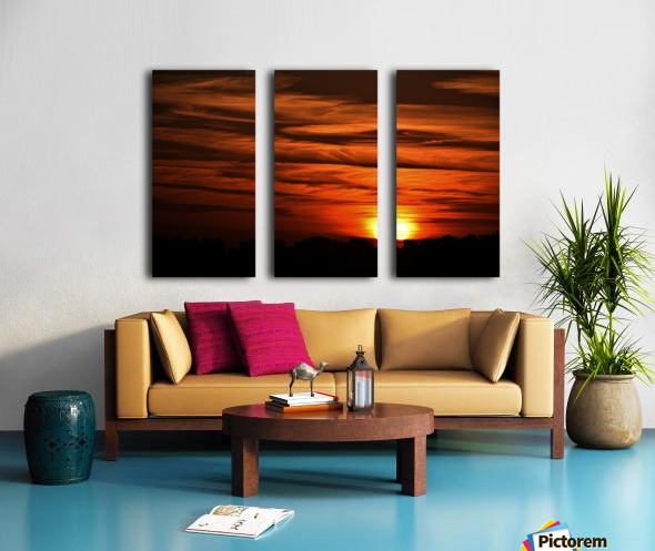 Sunrise in Cairo Split Canvas print