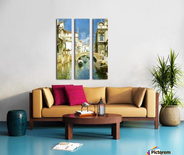 Venetian Canal Split Canvas print
