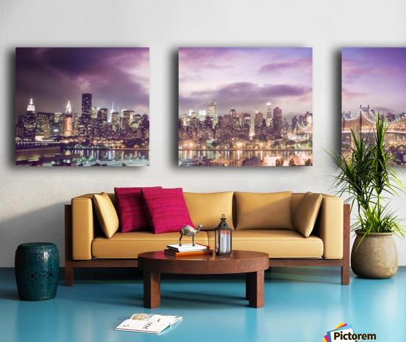 New York Cityscape Split Canvas print