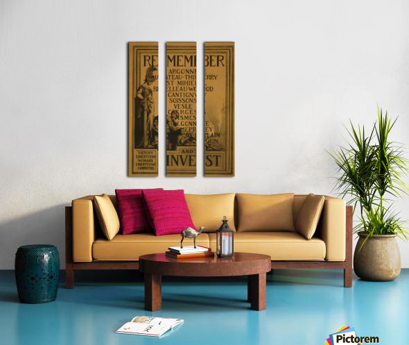 Invest Split Canvas print