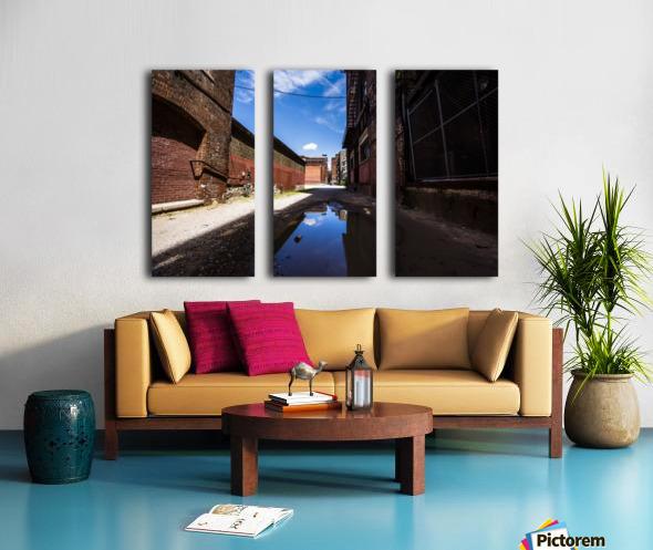 Alley Reflections Split Canvas print