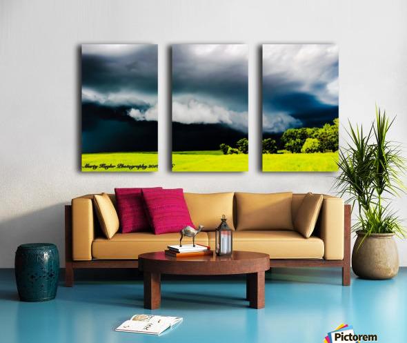 KANSAS STORM ROLLING IN! Split Canvas print