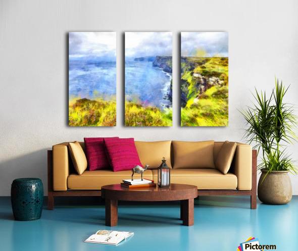 CLIFFS OF MOHER 1 WATERCOLOR Split Canvas print