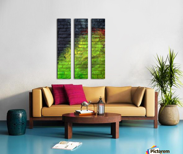 The Green Wall Split Canvas print