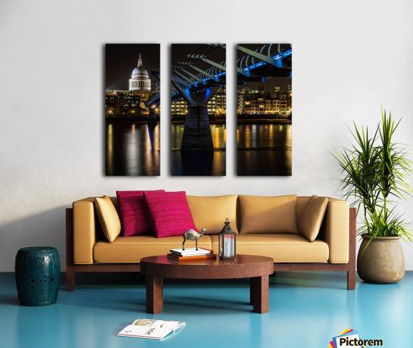 Millenium Bridge, London Split Canvas print