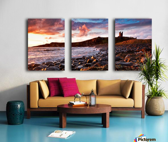 Dunstanburgh Castle, Northumberland, UK Split Canvas print