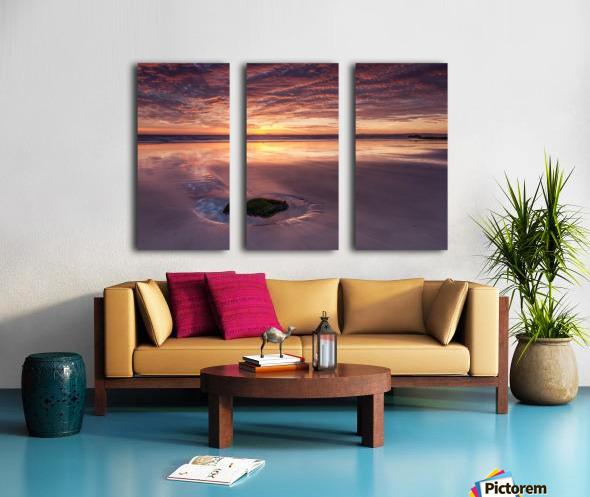 Beach Sunset Split Canvas print