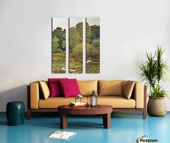 Riverside, Wallingford, Berkshire Split Canvas print