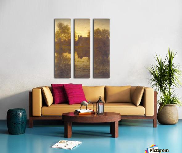 The deserted mill Split Canvas print