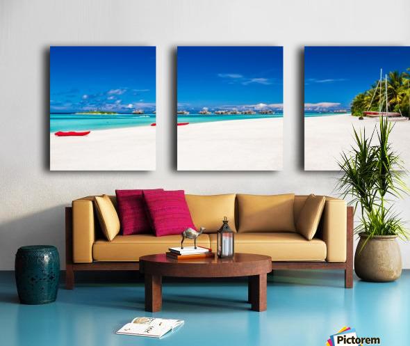 Amazing beach in Maldives, summer travel Split Canvas print