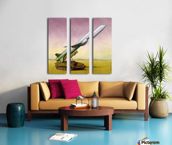 New Weapon Split Canvas print