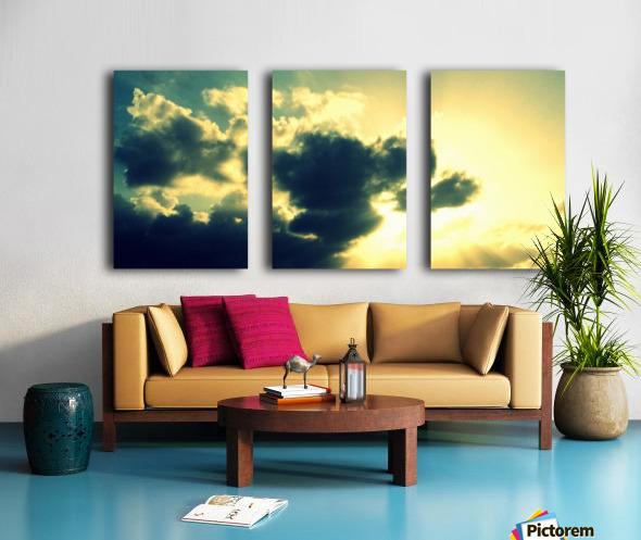 Old sky Split Canvas print