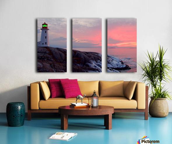 Peggys Cove Winter Sunset Split Canvas print