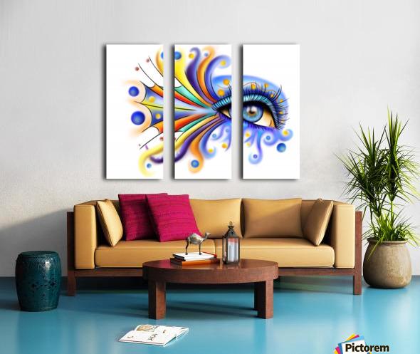 Arubissina V2 - fish eye Split Canvas print
