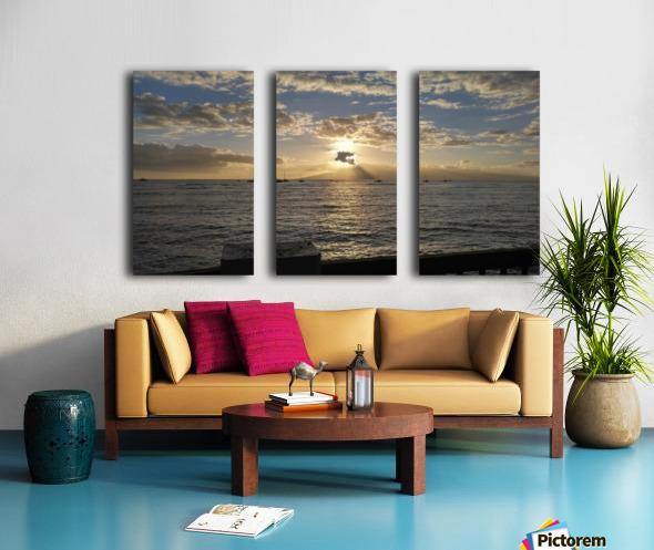 Lanai' Rise Split Canvas print
