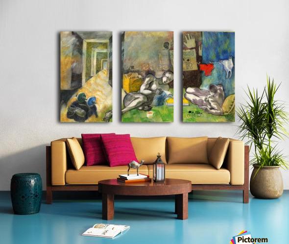 Bachelorhood Split Canvas print