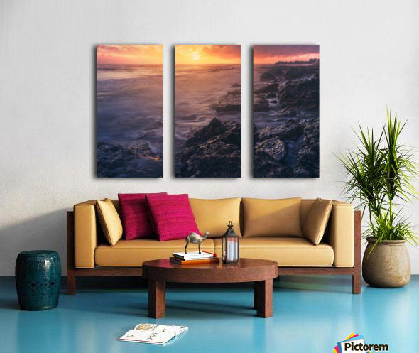 Caribbean Split Canvas print