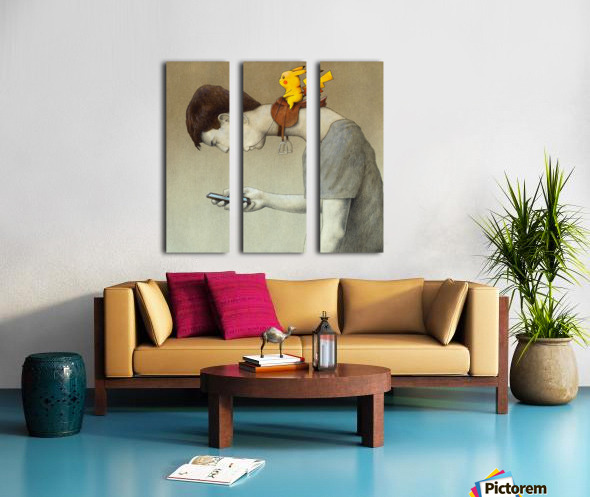 control Split Canvas print