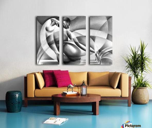 Roundism - 29-07-16 Split Canvas print