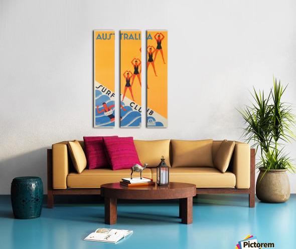 Australia Surf Club poster Split Canvas print