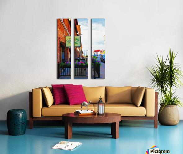Downtown Kankakee Cafe Split Canvas print