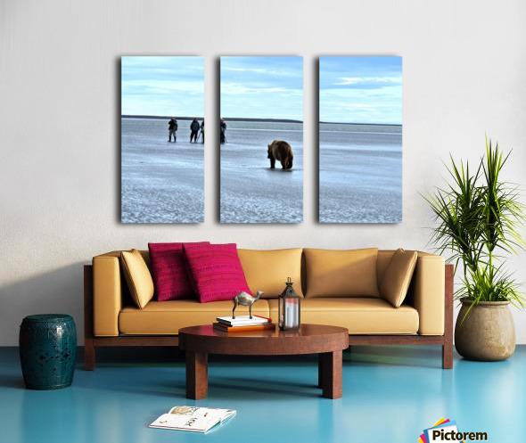 Stay Calm Split Canvas print