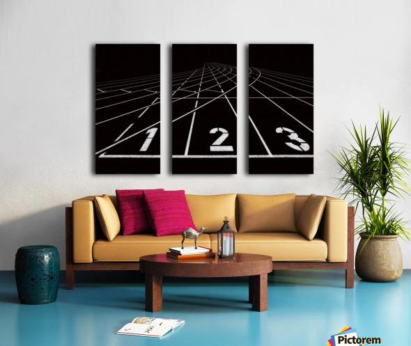 123 Split Canvas print