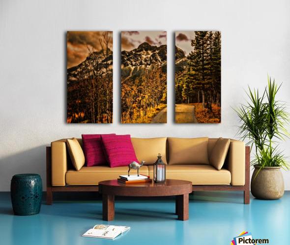 Rocky Mountain Way Split Canvas print