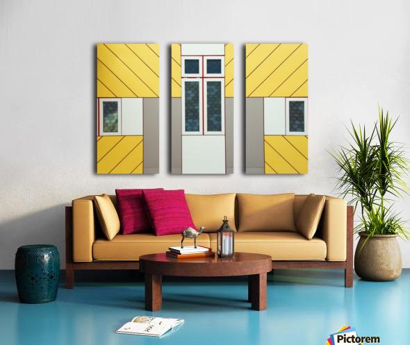 Facade Split Canvas print