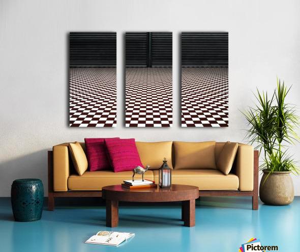 the hypnotic floor Split Canvas print