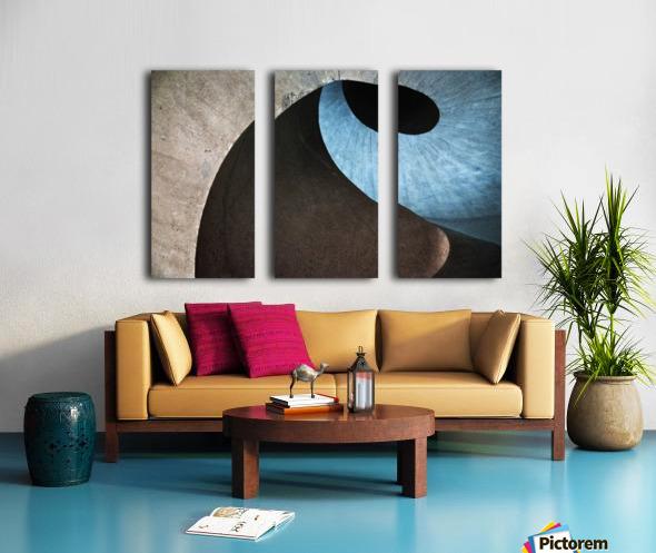concrete wave Split Canvas print
