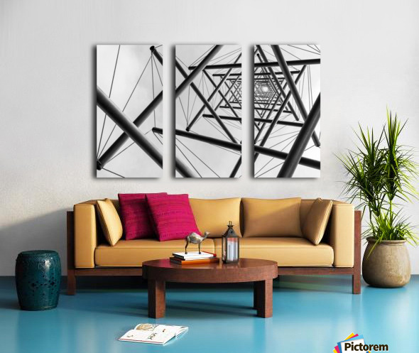 Lines Split Canvas print