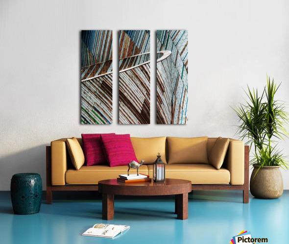 Colored Funnel Split Canvas print