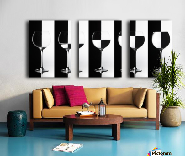 Black & White Split Canvas print
