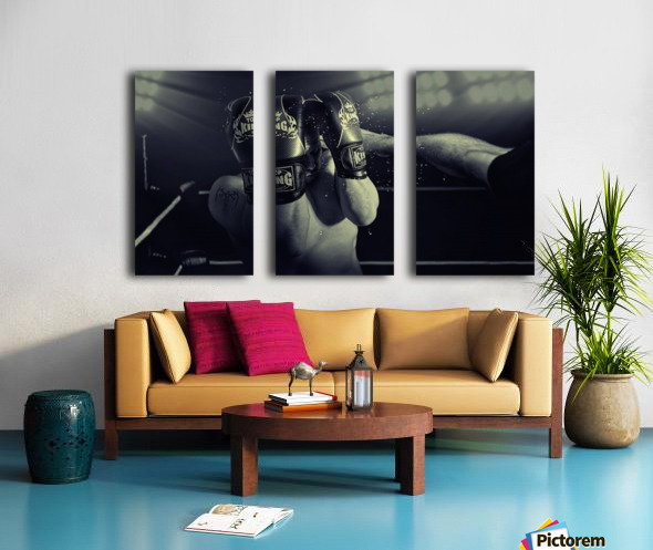 In the Glare of the Lights Split Canvas print