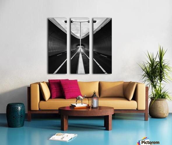 tunnel Split Canvas print