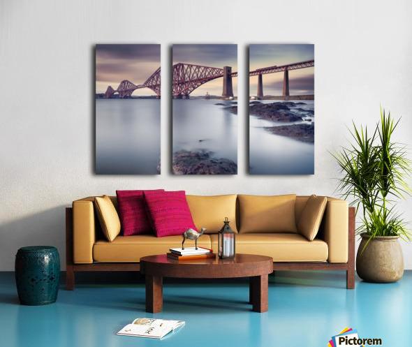 Forth Rail Bridge Split Canvas print