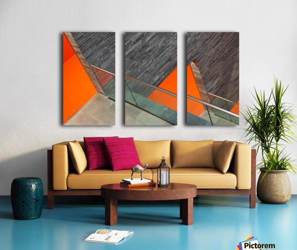 Repeat the orange Split Canvas print