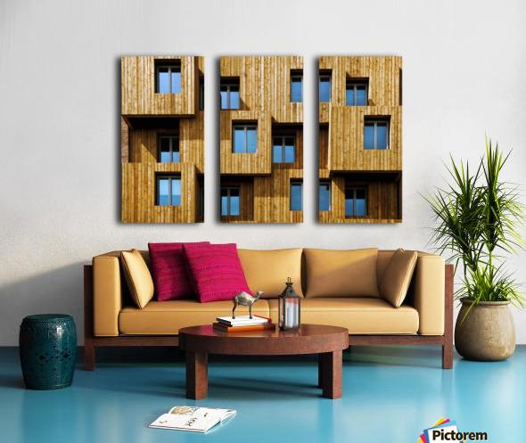 Little boxes Split Canvas print