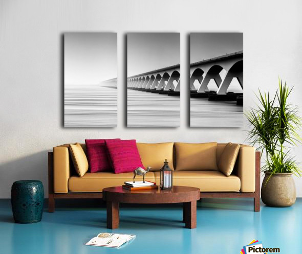 The Endless Bridge Split Canvas print