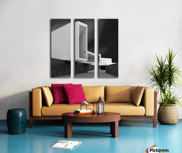 WHITE WALLS Split Canvas print