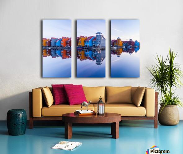 Colored homes Split Canvas print