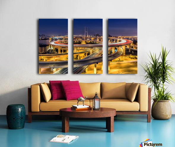 Nanpu Bridge Split Canvas print