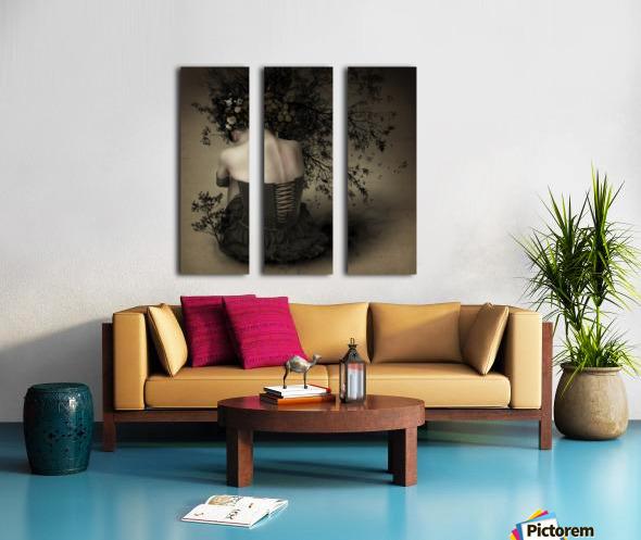 Night scented girl Split Canvas print