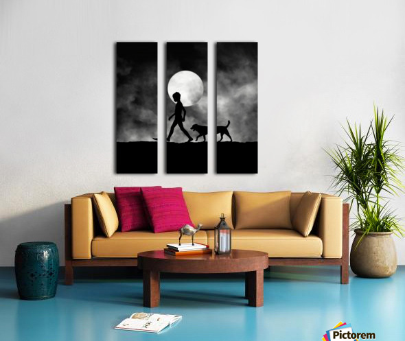 For All The Times Split Canvas print