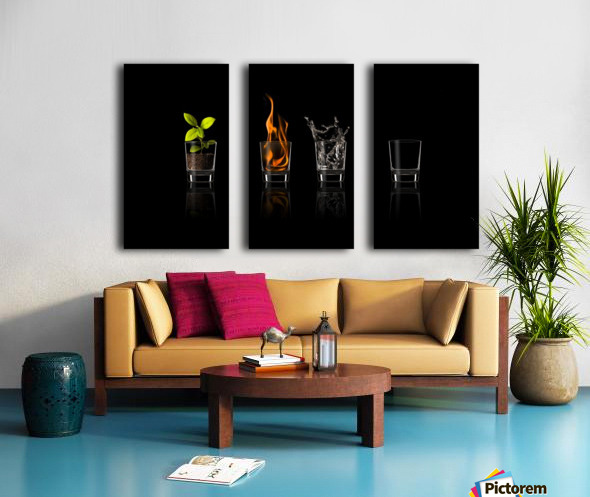 Elements... Split Canvas print