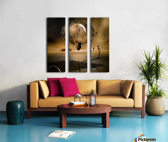 Even in the quietest Moment Split Canvas print