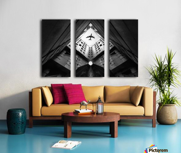 Plane city Split Canvas print